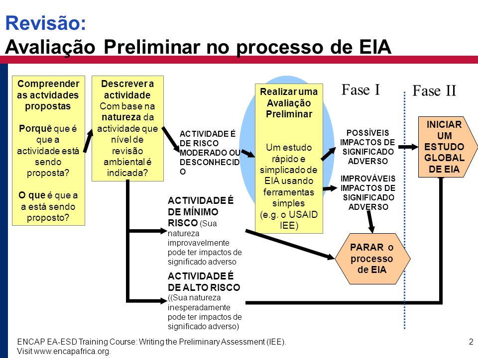 Revisão: Avaliação Preliminar no processo de EIA