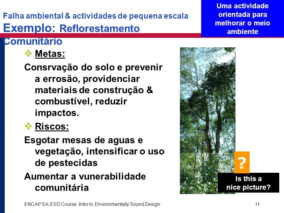 Uma actividade orientada para melhorar o meio ambiente