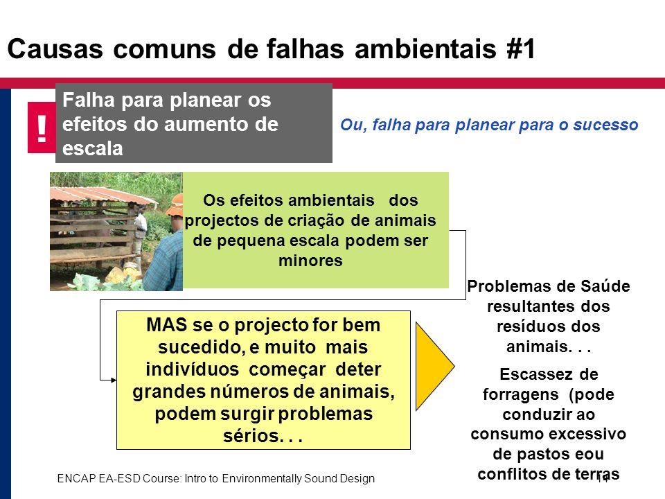 Causas comuns de falhas ambientais #1