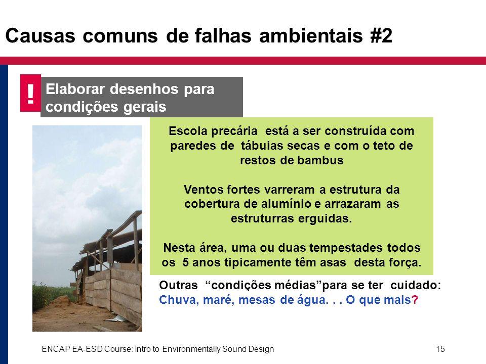 Causas comuns de falhas ambientais #2