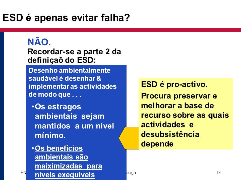 ESD é apenas evitar falha
