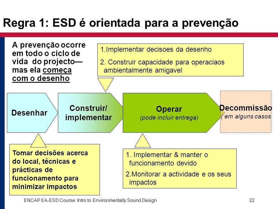 Regra 1: ESD é orientada para a prevenção
