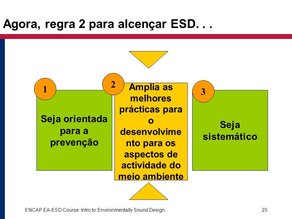 Agora, regra 2 para alcençar ESD. . .