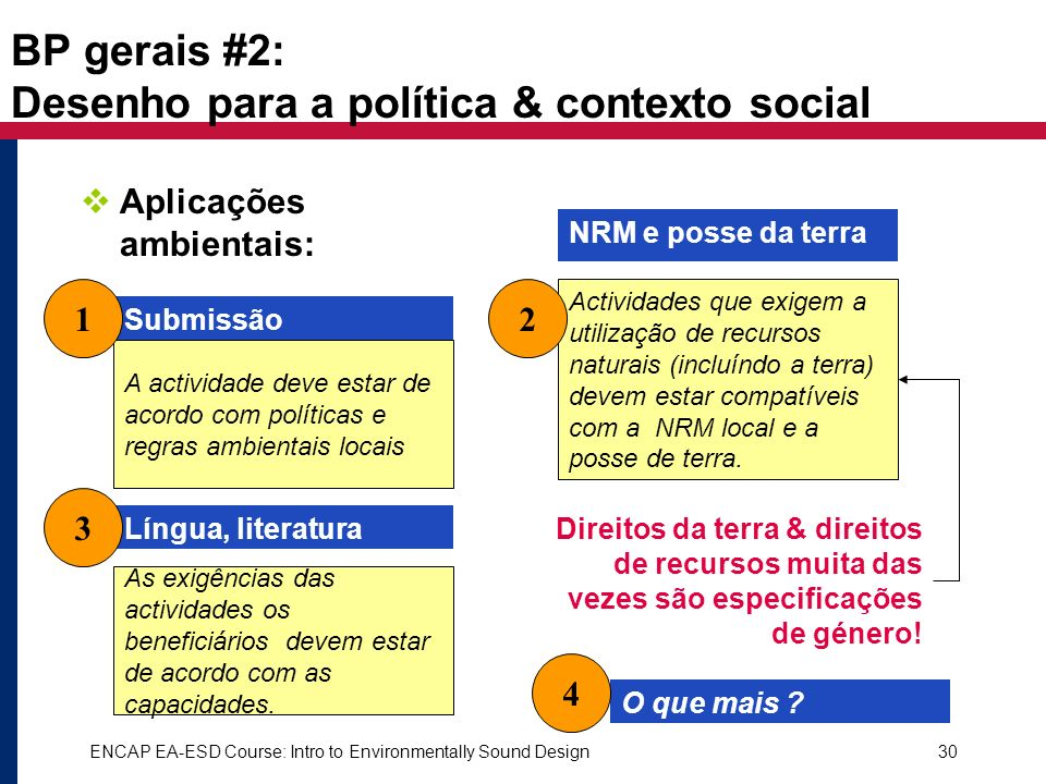 BP gerais #2: Desenho para a política & contexto social