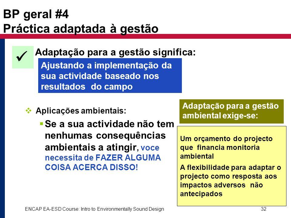 BP geral #4 Práctica adaptada à gestão