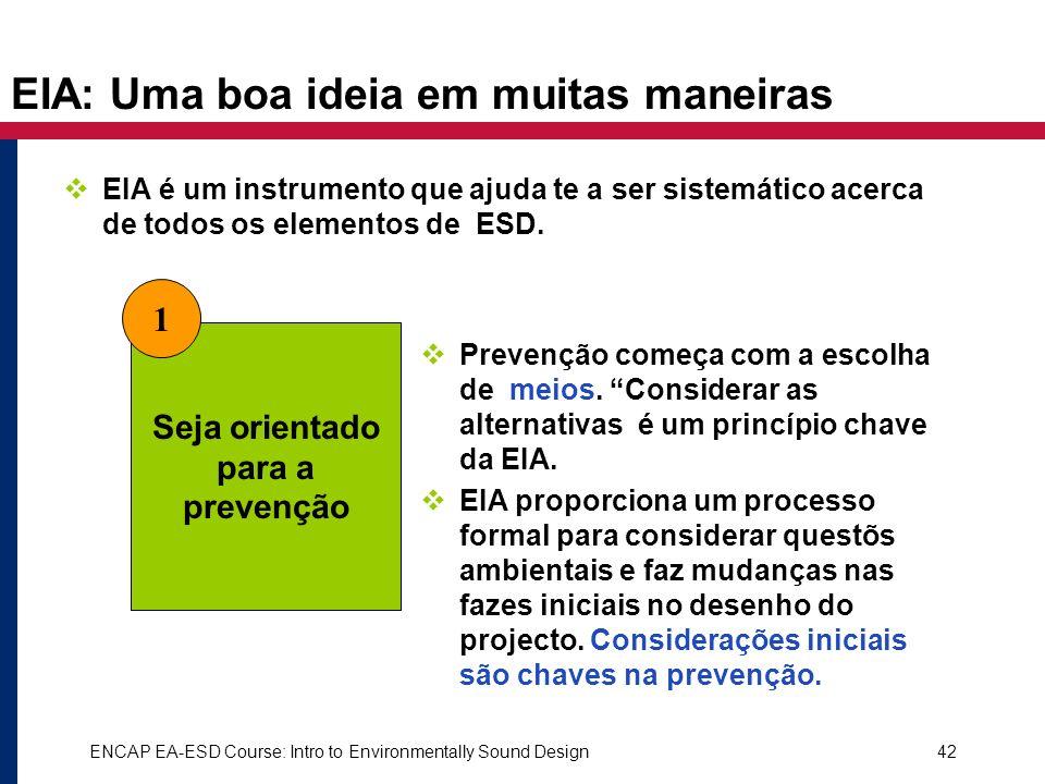 EIA: Uma boa ideia em muitas maneiras