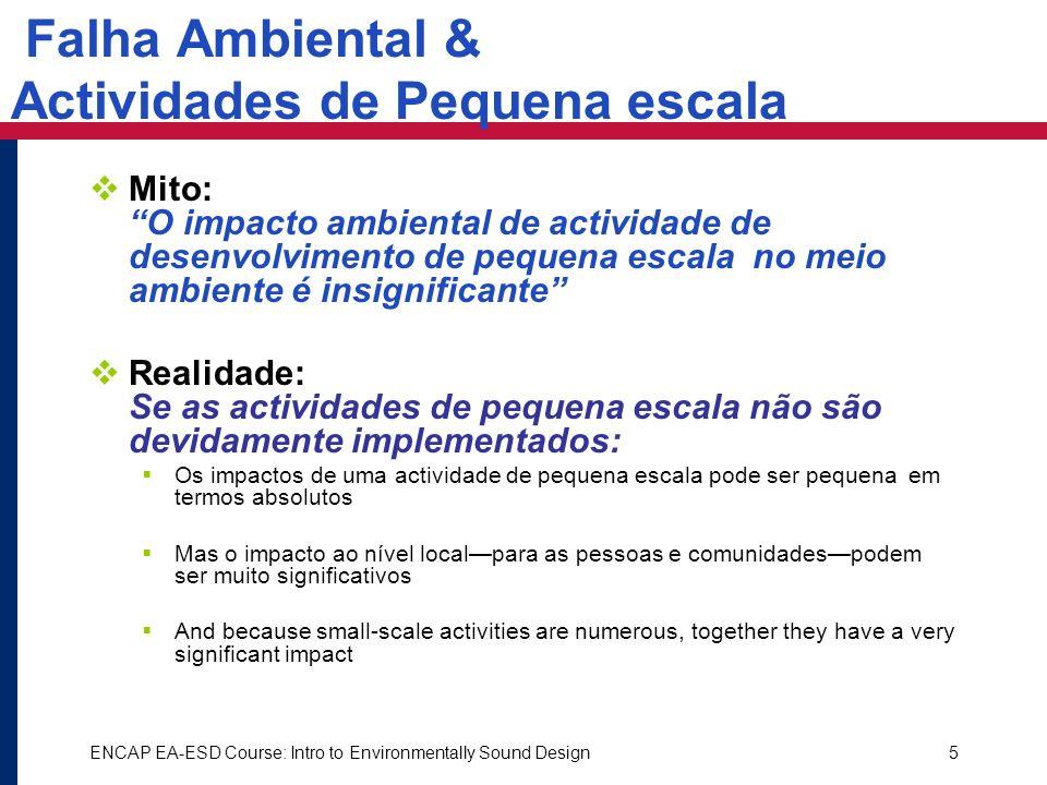 Falha Ambiental & Actividades de Pequena escala