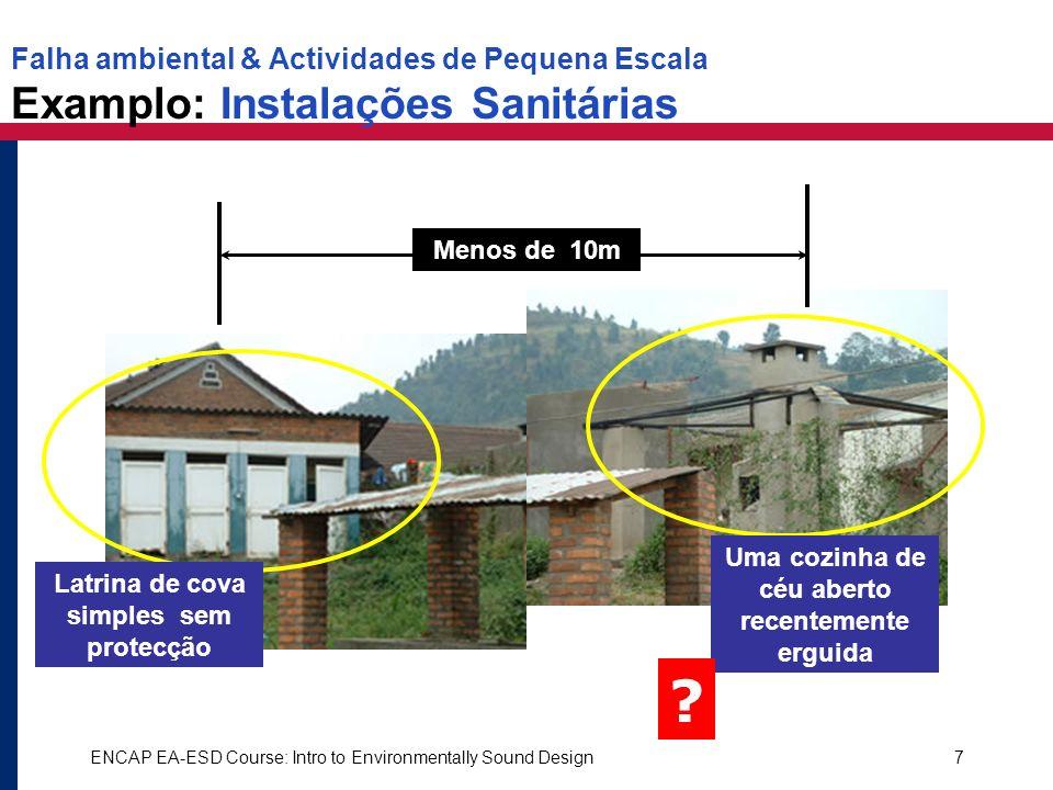 Falha ambiental & Actividades de Pequena Escala Examplo: Instalações Sanitárias