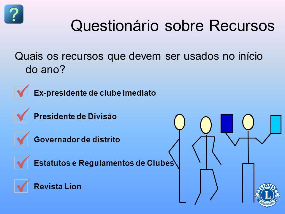 Questionário sobre Recursos