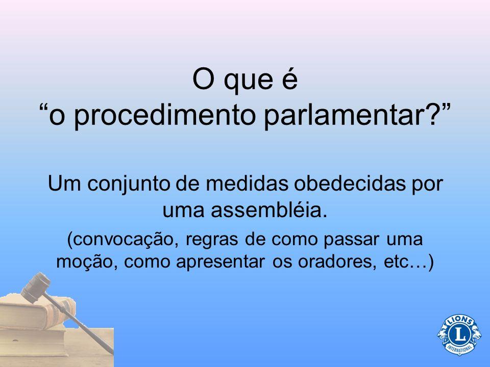 O que é o procedimento parlamentar