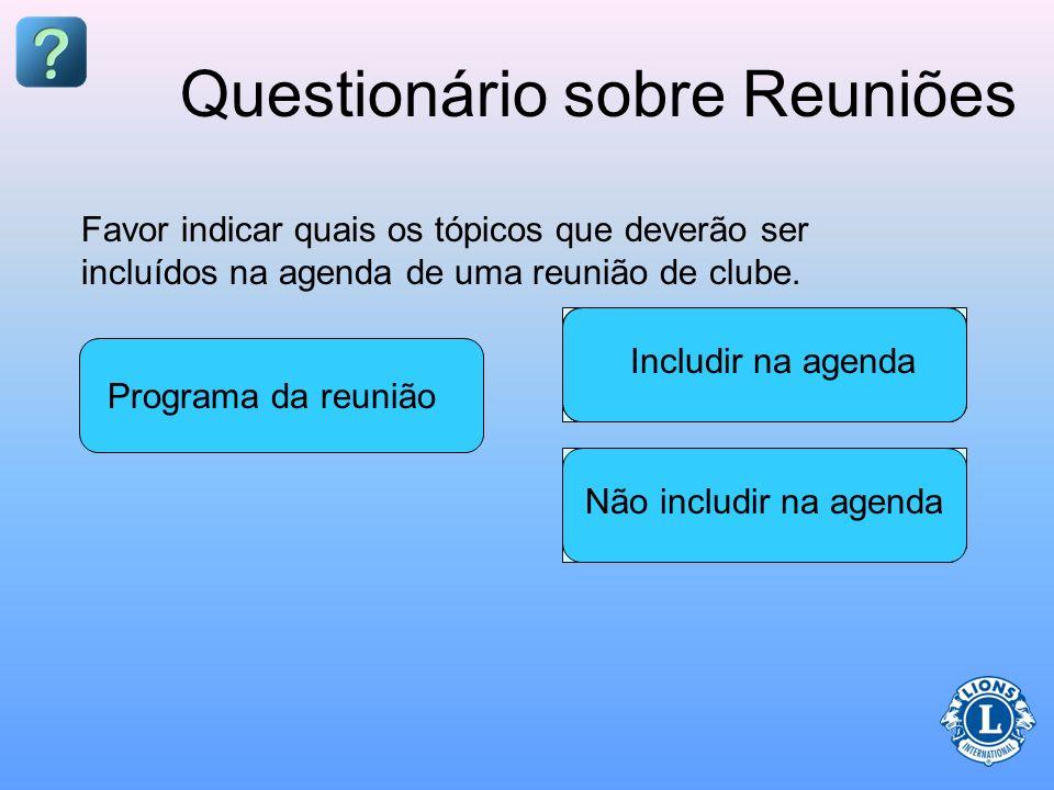 Questionário sobre Reuniões