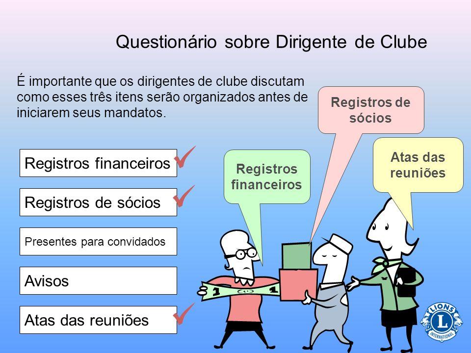 Questionário sobre Dirigente de Clube