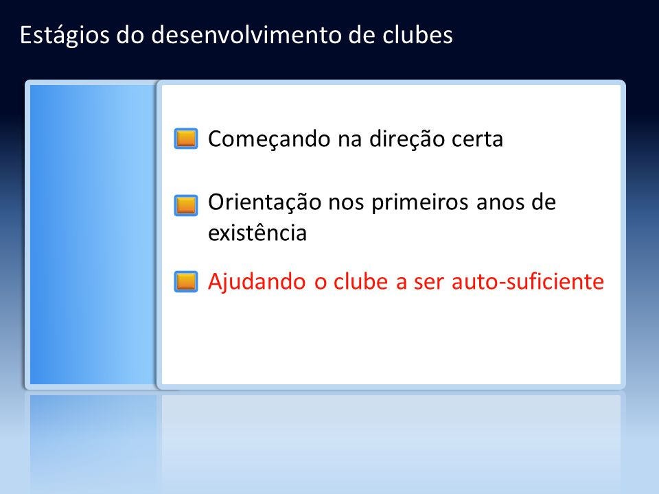 Estágios do desenvolvimento de clubes