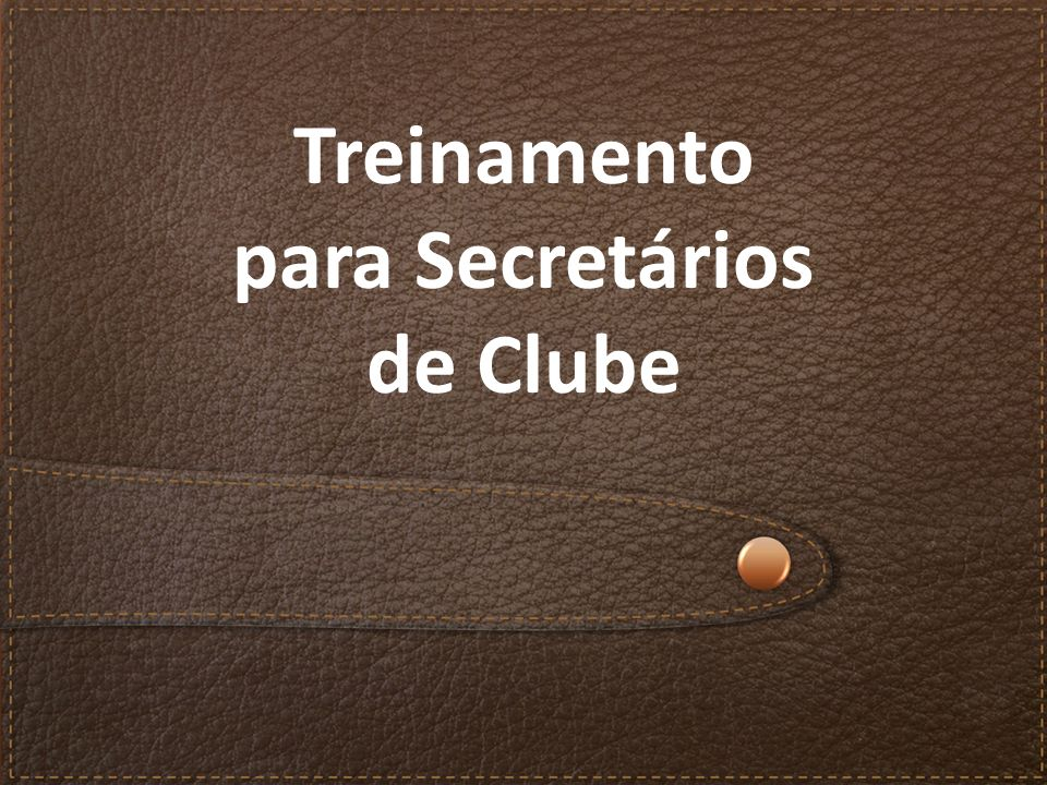 Treinamento para Secretários de Clube