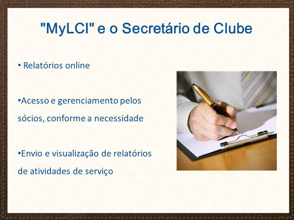 MyLCI e o Secretário de Clube
