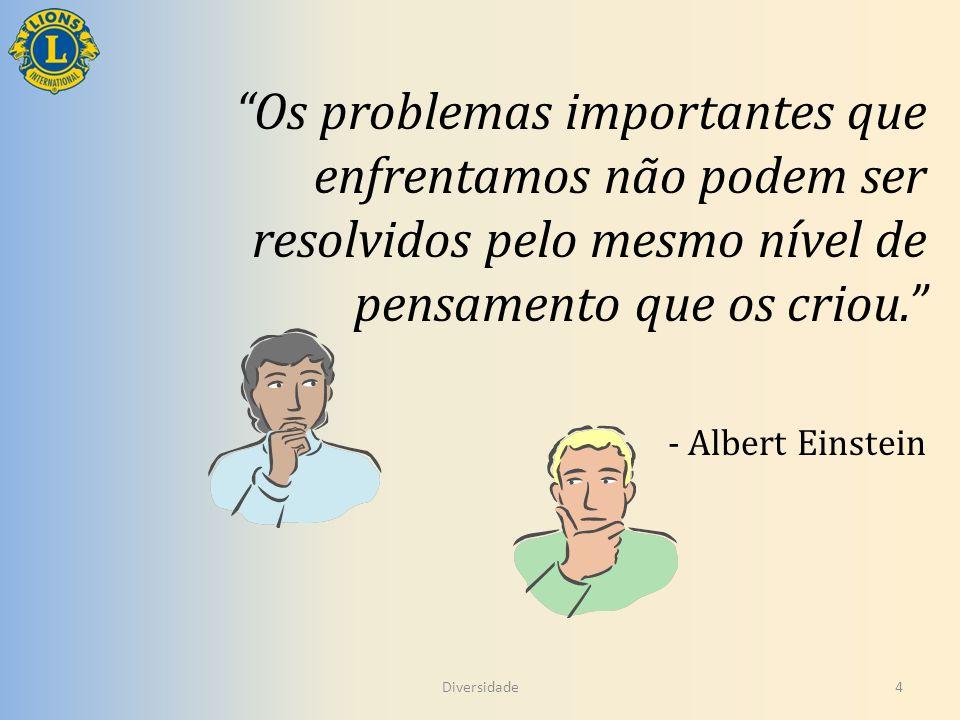 Os problemas importantes que enfrentamos não podem ser resolvidos pelo mesmo nível de pensamento que os criou.