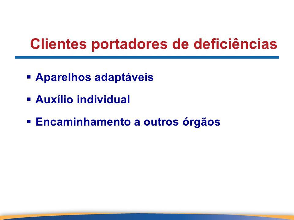 Clientes portadores de deficiências