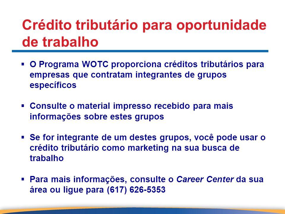 Crédito tributário para oportunidade de trabalho