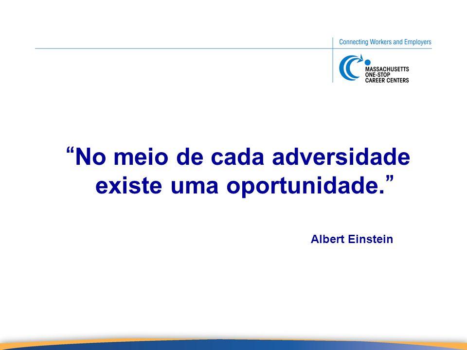 No meio de cada adversidade existe uma oportunidade.