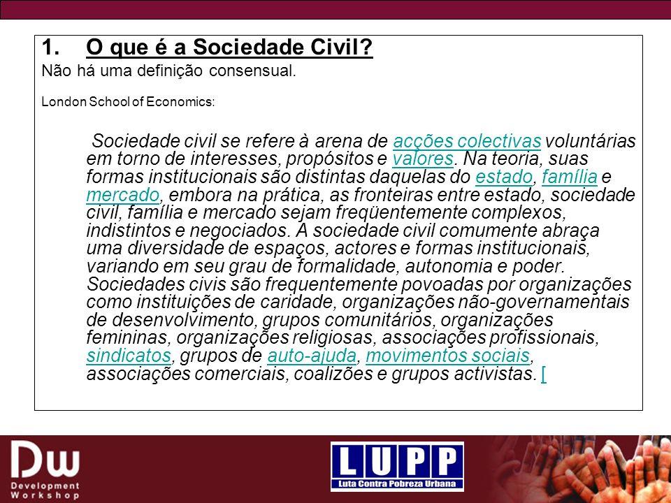 O que é a Sociedade Civil
