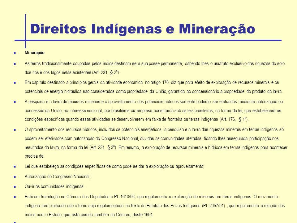 Direitos Indígenas e Mineração