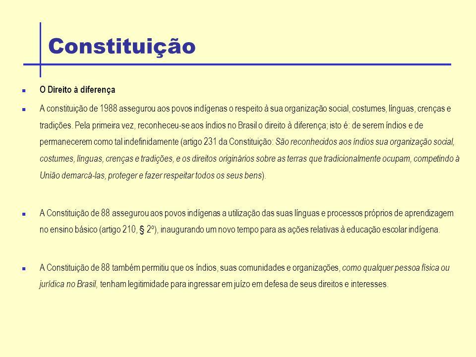 Constituição O Direito à diferença