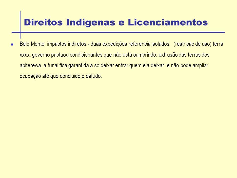 Direitos Indígenas e Licenciamentos