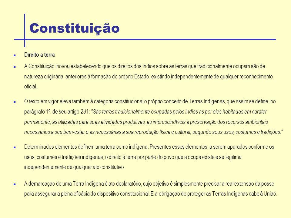 Constituição Direito à terra
