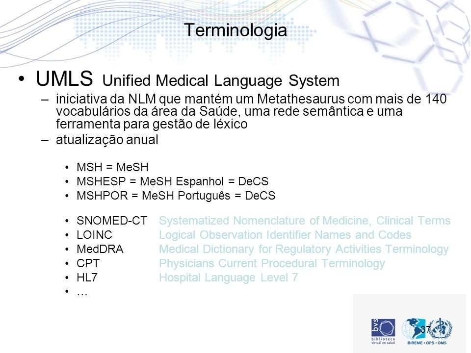 UMLS Unified Medical Language System