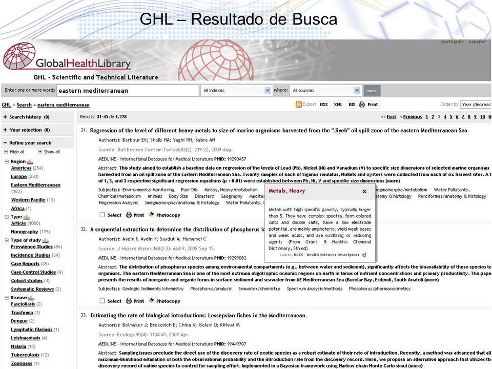 GHL – Resultado de Busca