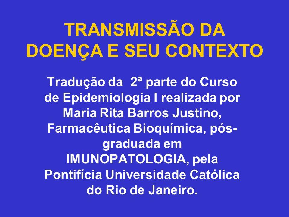 TRANSMISSÃO DA DOENÇA E SEU CONTEXTO