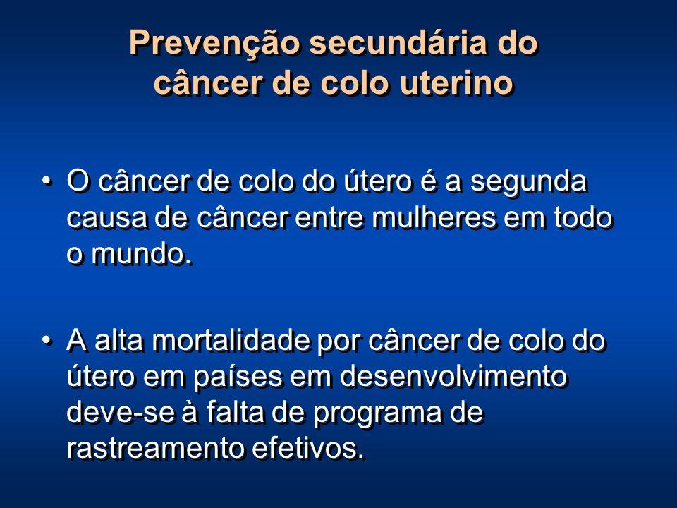 Prevenção secundária do câncer de colo uterino