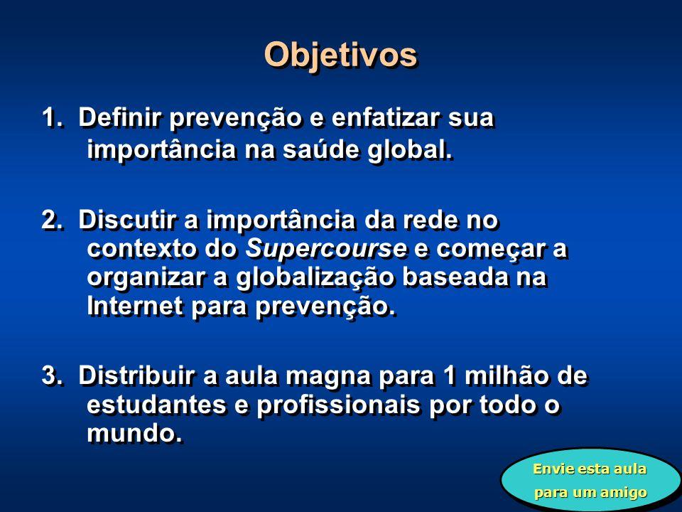 Objetivos 1. Definir prevenção e enfatizar sua importância na saúde global.