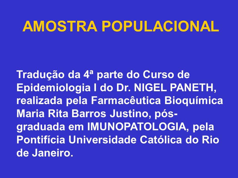AMOSTRA POPULACIONAL