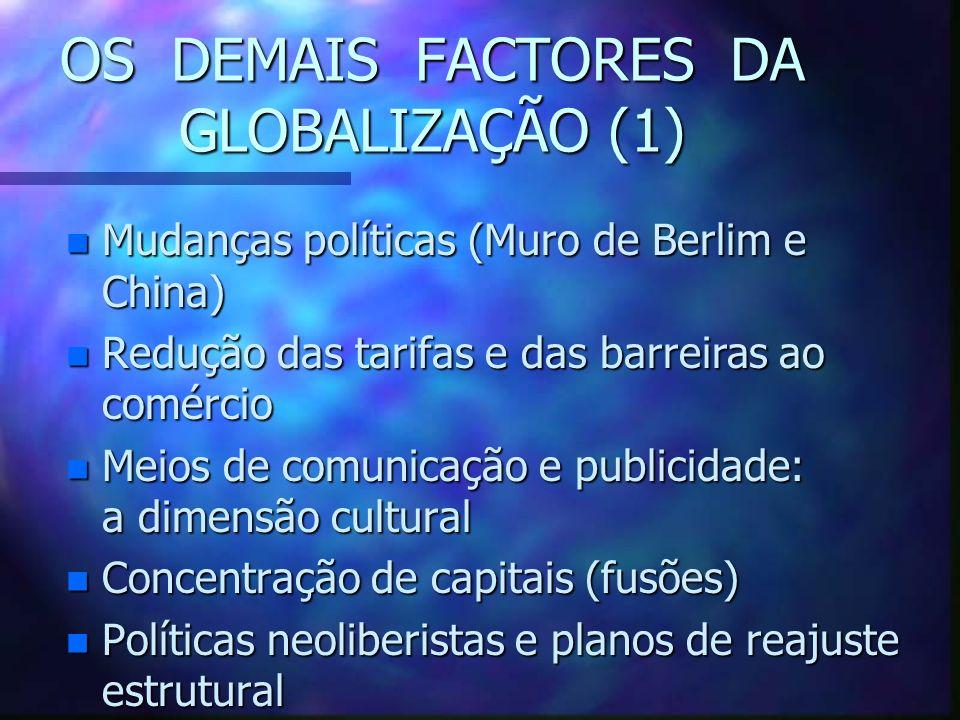 OS DEMAIS FACTORES DA GLOBALIZAÇÃO (1)
