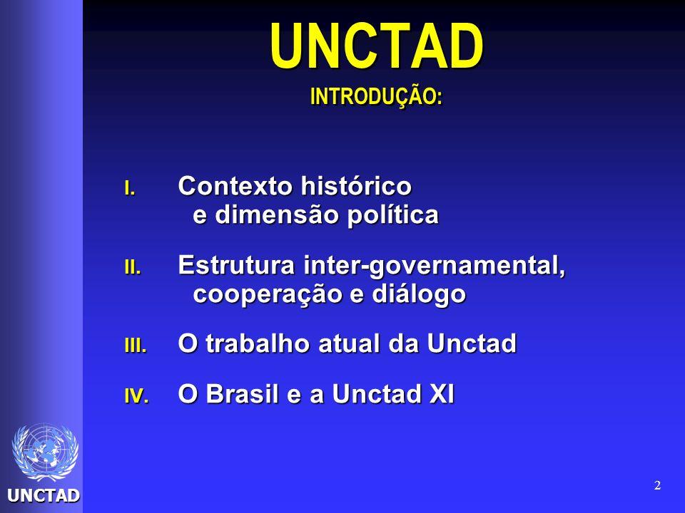 UNCTAD INTRODUÇÃO: Contexto histórico e dimensão política