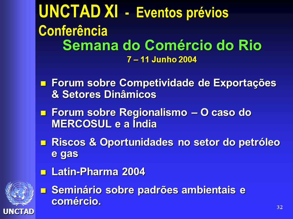 UNCTAD XI - Eventos prévios Conferência
