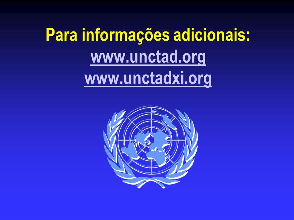 Para informações adicionais: www.unctad.org www.unctadxi.org