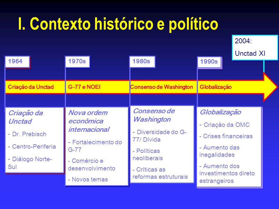 I. Contexto histórico e político
