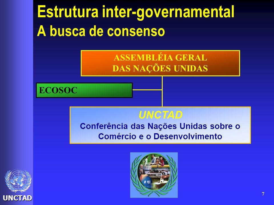 Estrutura inter-governamental A busca de consenso