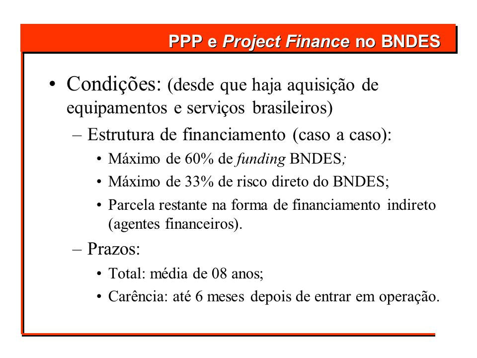 PPP e Project Finance no BNDES