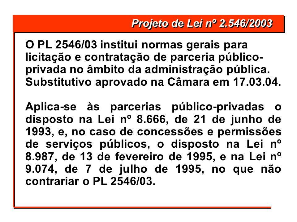 Projeto de Lei nº 2.546/2003