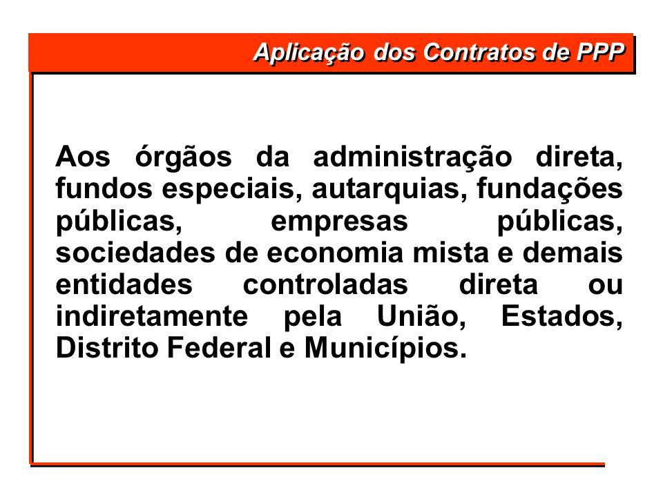 Aplicação dos Contratos de PPP