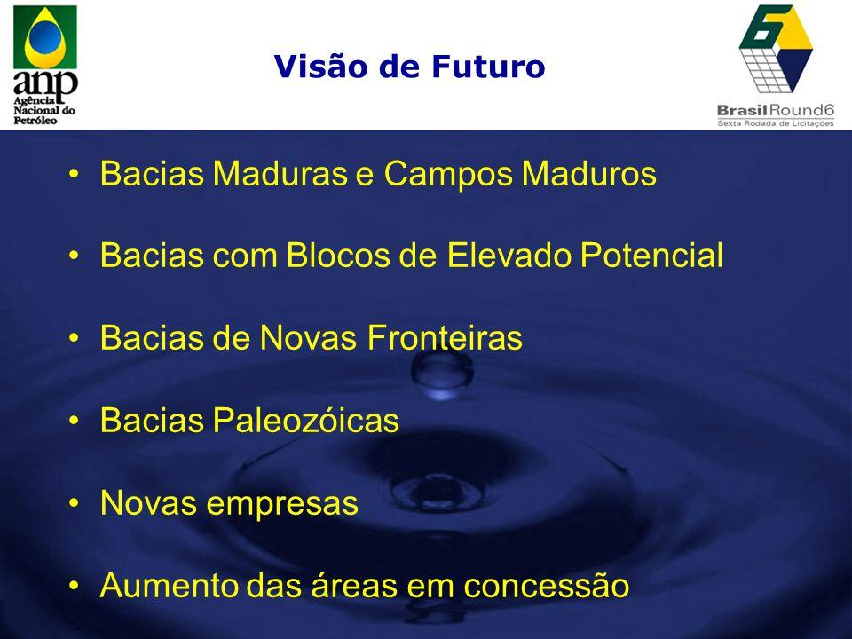 Bacias Maduras e Campos Maduros Bacias com Blocos de Elevado Potencial