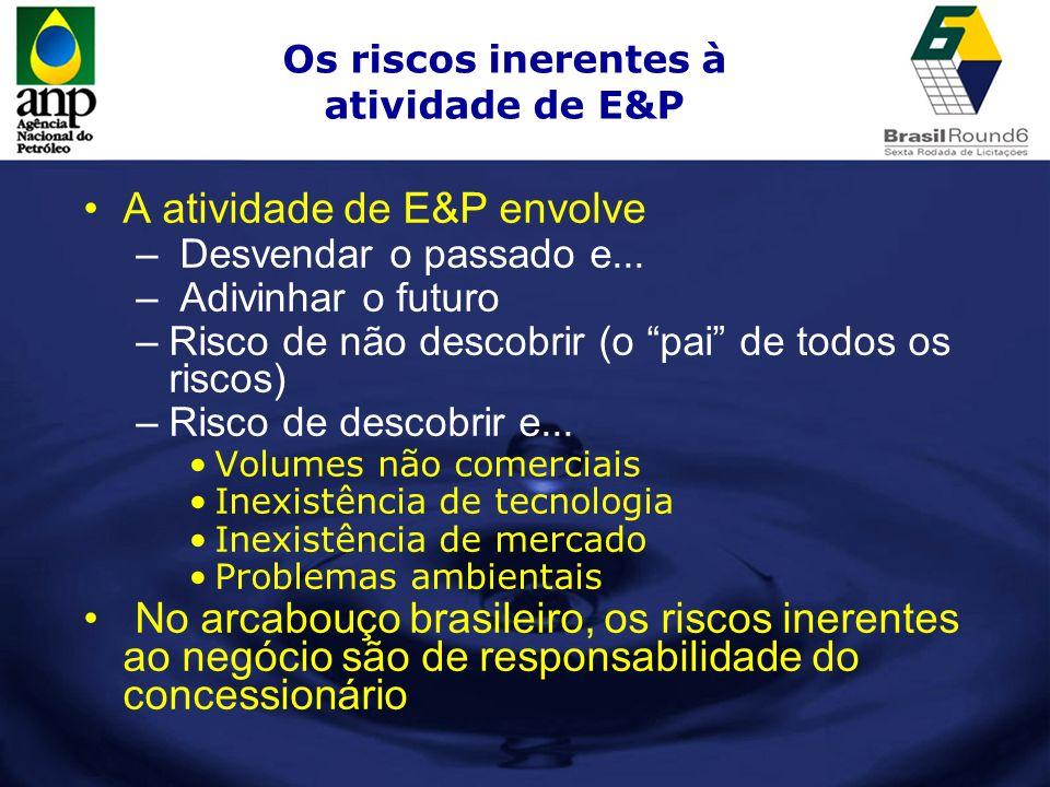 Os riscos inerentes à atividade de E&P