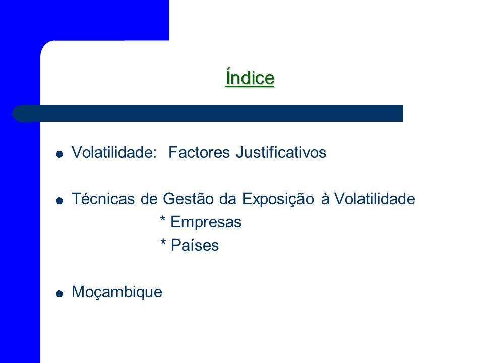 Índice Volatilidade: Factores Justificativos