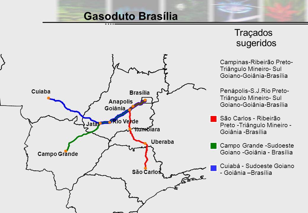 Gasoduto Brasília Traçados sugeridos