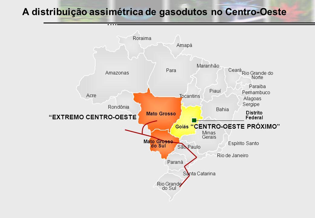 A distribuição assimétrica de gasodutos no Centro-Oeste