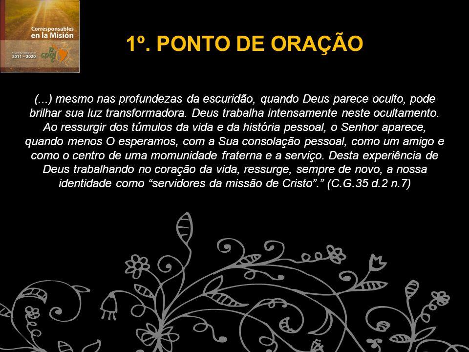 1º. PONTO DE ORAÇÃO