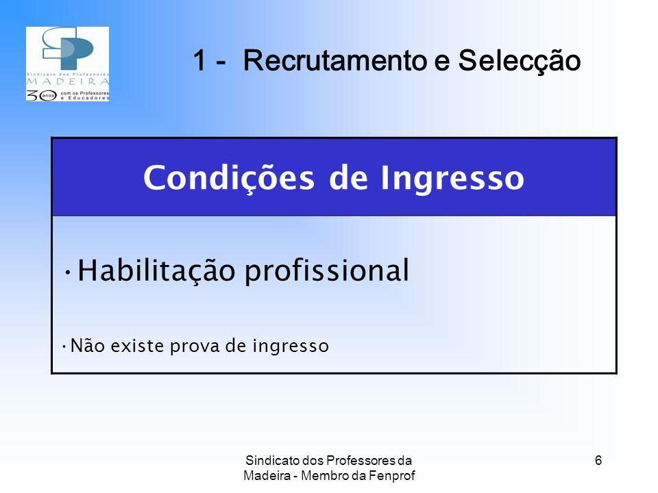 1 - Recrutamento e Selecção